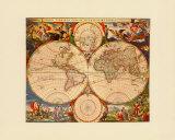 Orbis Terrarum Nova IV Prints by Nicholas Visscher
