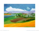 Sommer in der Provence I Poster von L. Vallet