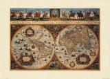 Nova Terrarum Orbis Tabula Print by G. Blacuso