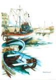 Porto Mediterranio I Print by Daniela Lecchi