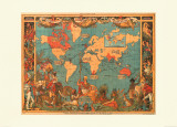British Empire Map, 1886 Posters by M. P. Formerly