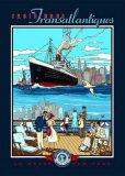 Croisiere Transatlantiques Posters by Bruno Pozzo