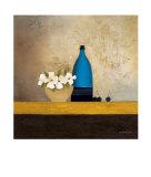Blue Bottle Poster von Anouska Vaskebova