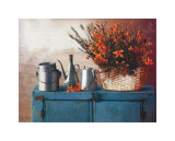 Flowers on Gramma's Sideboard II Prints by M. De Flaviis