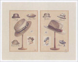 Chapeaux Hommes Prints by Laurence David