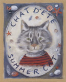 Chat d'Ete Print by Joëlle Wolff