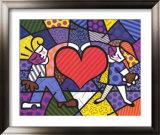 Heart Kids Prints by Romero Britto