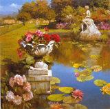 Water Garden II Print by Spartaco Lombardo