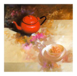 Still Life with Red Teapot Posters by Spartaco Lombardo