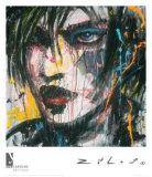 Ennui T.V. Print by  Zilon