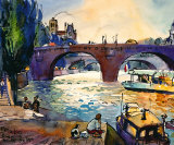Evening by the Seine Art by Michael Leu
