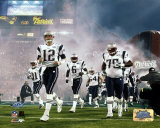 Patriots Introduction - Super Bowl XXXIX - Tom Brady leads Patriots out of tunnel onto field Photo