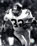 Franco Harris - Rushing With Ball (B&amp;W) Photo