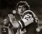 Joe Namath - Posed Passing Without Helmet (B & W) Photo