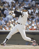 MLB Reggie Jackson - Batting Action Photo