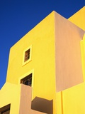 Yellow Building on Santorini Photographic Print by Bob Jacobson