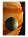 Jupiter and Io Giclee Print by Clark Dunbar