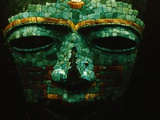 Teotihuacan Mosaic Sculpture Mask Fotografisk tryk af Randy Faris