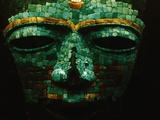 Teotihuacan Mosaic Sculpture Mask Fotografie-Druck von Randy Faris