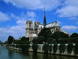 Cathedral of Notre Dame and the Seine Photographic Print by Leslie Richard Jacobs