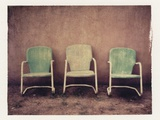 Three Turquoise Chairs Photographic Print by Jennifer Kennard