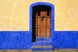Door in Yellow and Blue House Photographic Print by Ron Watts