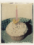 Birthday Cupcake Photographic Print by Jennifer Kennard