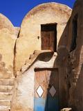 Edificio con porte colorate Stampa fotografica di Perry Mastrovito