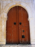 Door in Brown Arch Photographic Print by Perry Mastrovito