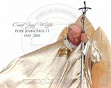 Pope John Paul II 1920 - 2005 (H with Caption) Photo