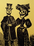 Detail Showing Skeletal Couple from El Gran Paneon Amoroso by Jose Guadalupe Posada Fotografie-Druck von Mark Karrass