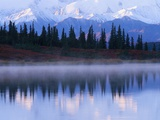 Alaskan Range Reflected in Wonder Lake Photographic Print by Jeff Vanuga