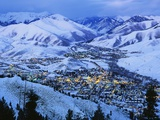 Sun Valley and Ketchum in Winter Photographic Print