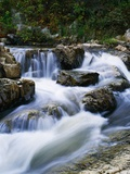 Stream Cascading over Boulders Photographic Print by Perry Mastrovito