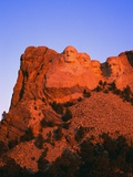 Mount Rushmore Memorial at Dusk Photographic Print by L. Clarke