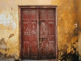 Wooden Door in Worn Wall Photographic Print by Jack Hollingsworth