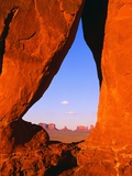 Teardrop Window in Monument Valley Photographic Print by L. Clarke