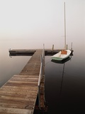 Sailboat Tied to Dock Photographic Print by Peter Finger