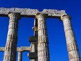 Columns of Temple of Poseidon Photographic Print by Perry Mastrovito