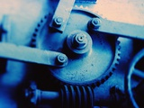 Gears and Threaded Screws Photographic Print by Lawrence Manning