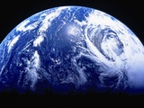 Planet Earth in Outer Space Photographic Print