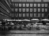 Raining on Cafe in Plaza Mayor Photographic Print by Jack Hollingsworth