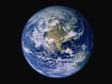 Earth from Space with Western Hemisphere Photographic Print