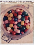 Jar Filled with Gumballs Photographic Print by Philip Harvey