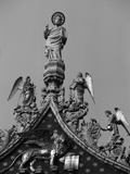 Detail of Pediment Sculptures Adorning Basilica of San Marco Photographic Print