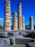 Columns of Temple of Apollo Photographic Print by Perry Mastrovito