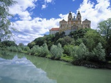 Melk Abbey and Danube Photographic Print by Jim Zuckerman