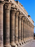 Philae Temple Colonnade, Temple of Isis Photographie par Ron Watts