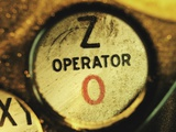 Operator Button on Telephone Photographic Print by Robert Llewellyn