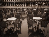Empty Tables in Piazza San Marco Photographic Print by Jack Hollingsworth